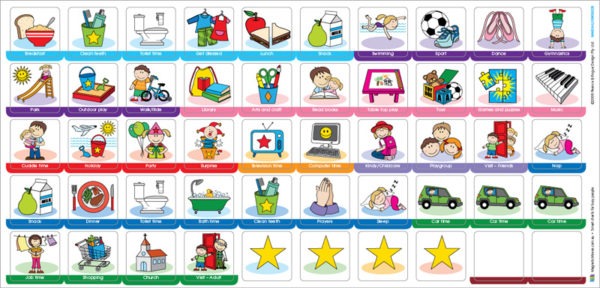 My Busy Day Children's Activity Chart