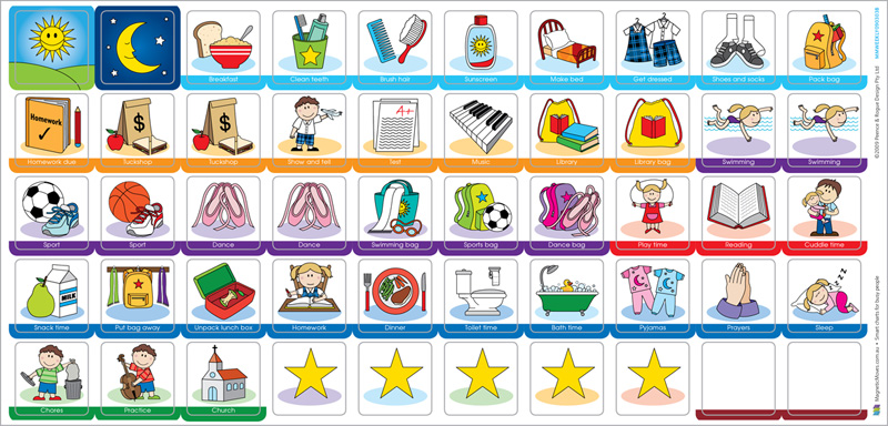 Magnetic Moves » My Busy School Week Children's Activity Chart